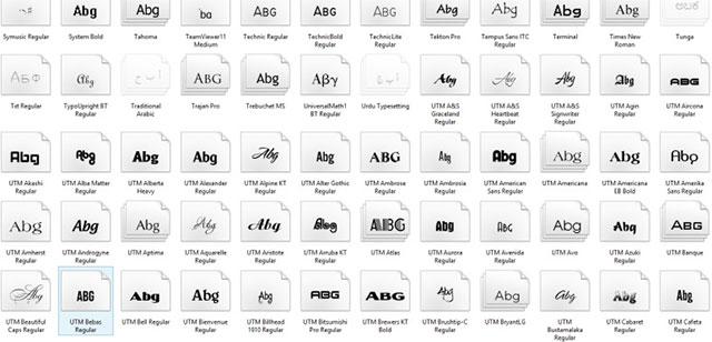 bộ font utm việt hóa 100Font UTM: Link tải trọn% FREE