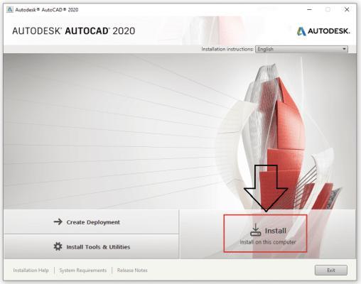 Hướng dẫn download autocad 2020 full crack
