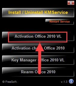 Hướng dẫn cách Active Crack Office 2010 KMService