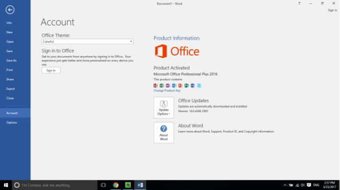 Các bước thực hiện active Office 2016 by phone
