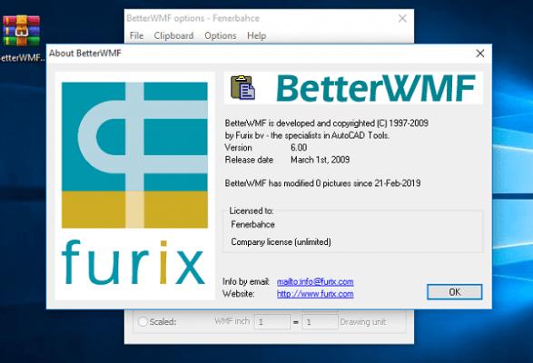 Giao diện phần mềm BetterWMF 2020 full crack