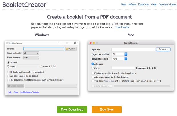 Download phần mềm Booklet Creator full crack