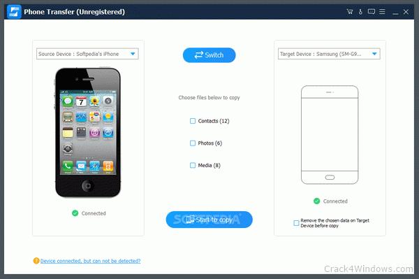 Phần mềm chuyển đổi dữ liệu phone transfer full crack